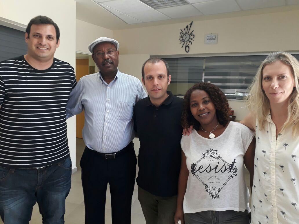 צוות התכנית עם חבר הכנסת אברהם נגוסה